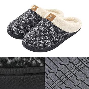 Ladies Women Slippers Mules Indoor Warm Fleece Bedroom House Shoes Sizes UK 3-8