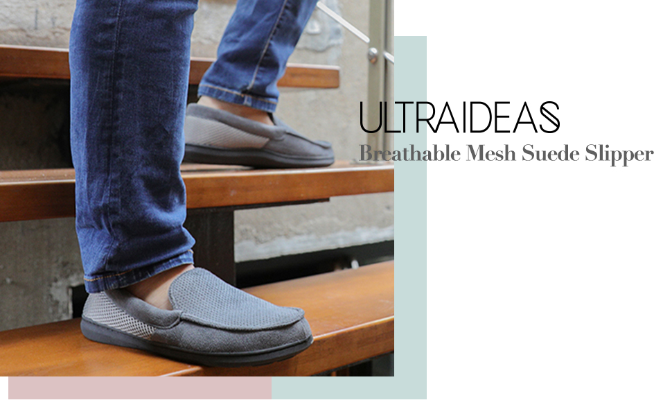 Breathable Mesh Suede Slipper