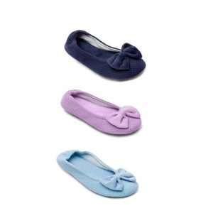 Navy blue purple slipper