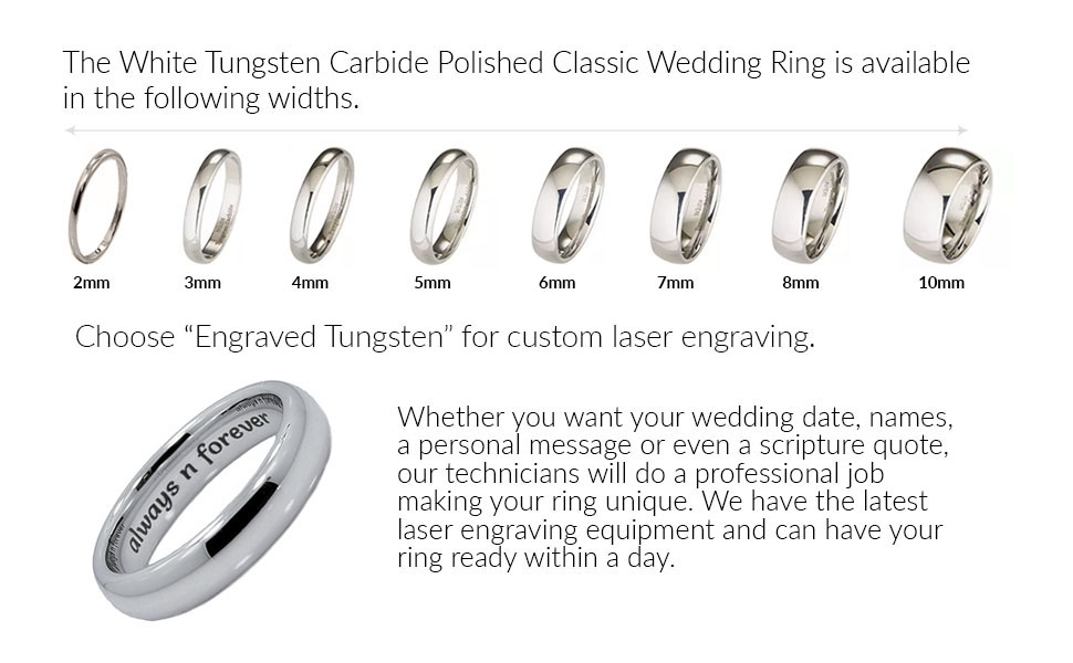 ring titanium tensus grooved rings wedding