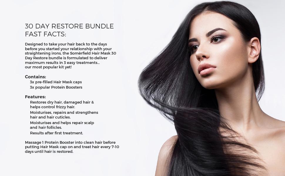Somerfield Intense 30-Day Restore Hair Mask Bundle   To Strengthen &  Restore Damaged Hair   For