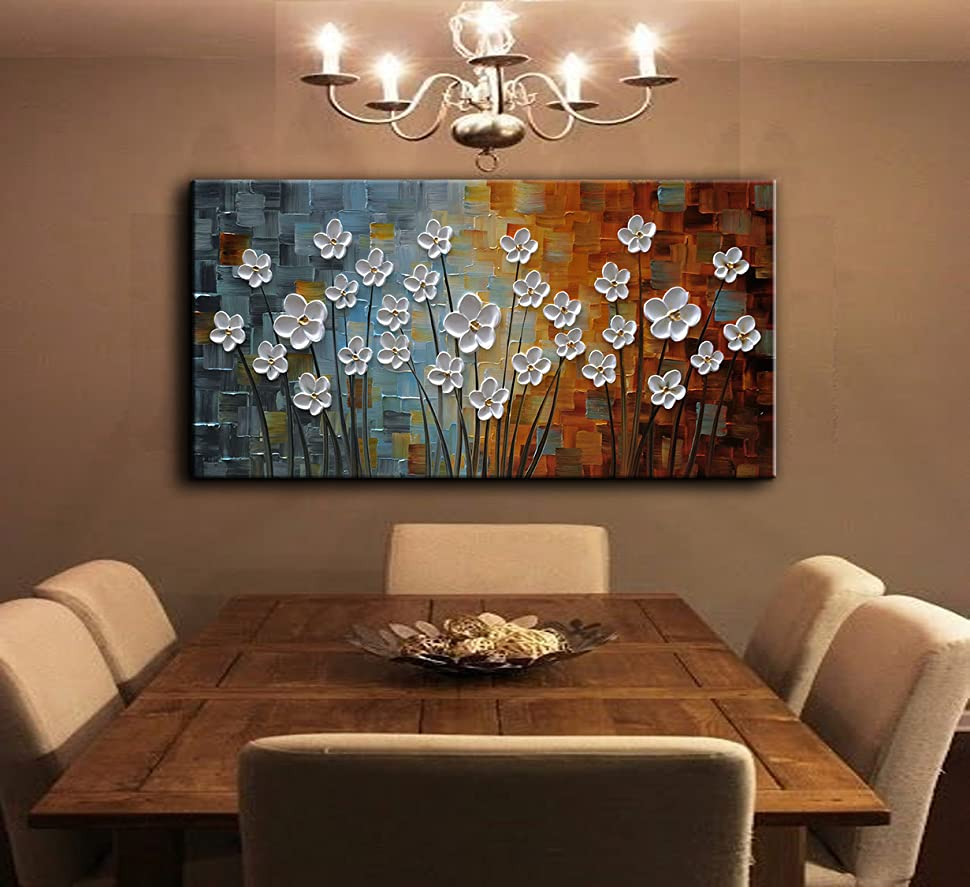Modern Art Paintings For Living Room Amazoncom Yasheng Art Hand Painted Contemporary Art Texture