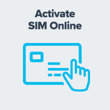 Icon about activating satellite phone SIM card online