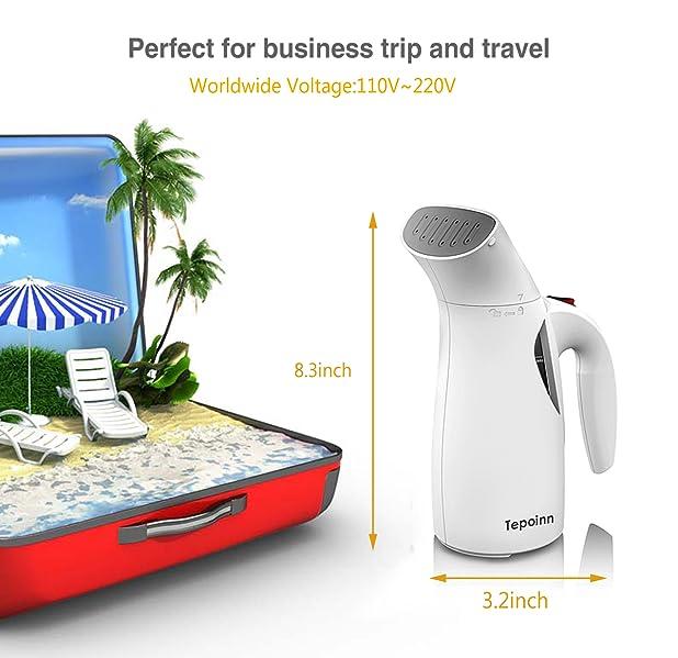 tepoinn 400w portable handheld fabric travel garment steamer - Garment Steamer