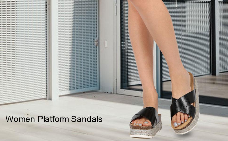 Women's Espadrille Platform Slide