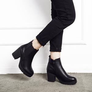 Details about  /Women Ankle Chelsea Boots US Size 3-8 Chunky Block Heels Platform Shoes Ladies