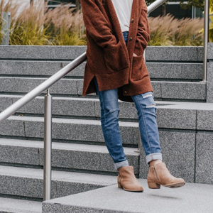 low heeled boots to wear with dresses