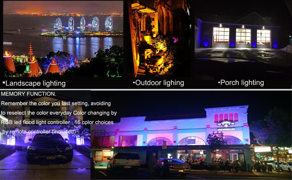 Zhma rgb led flood light 50w color changing security light 16 zhma rgb led flood light50w 16 colors lights 4 modescolor changing led security lightsus 3 plug remote control for outdoor hotel garden wall washer aloadofball Image collections