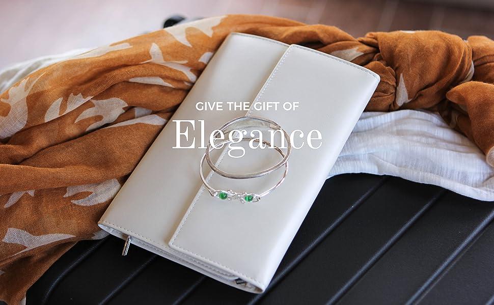 Amazoncom case Elegance Vegan Leather Travel Jewelry Case