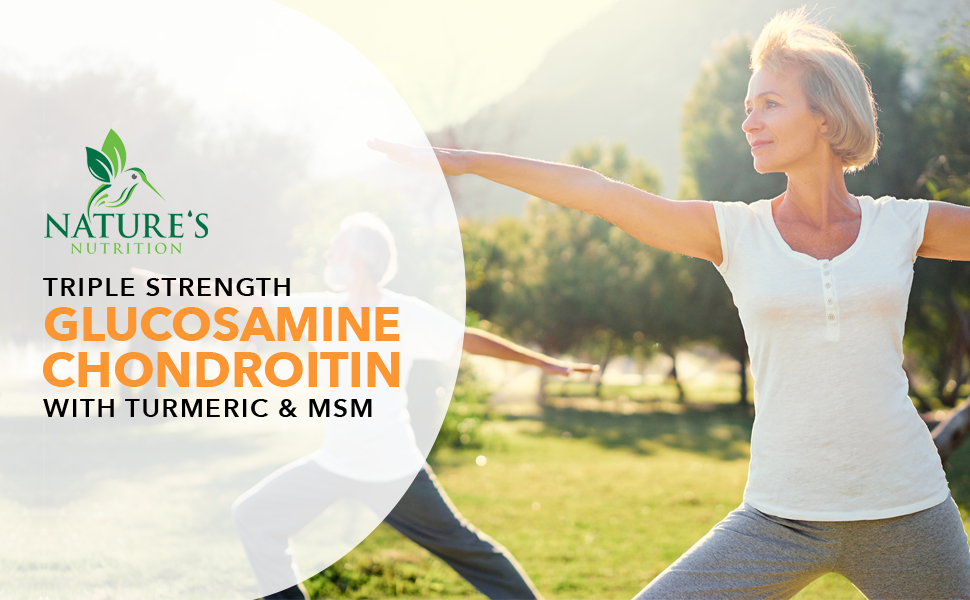Nature's Nutrition triple strength glucosamine chondroitin with turmeric and MSM