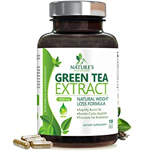 Details About Egcg Green Tea Extract Capsules 1000mg Natural Fat Burner Pills Weight Loss New