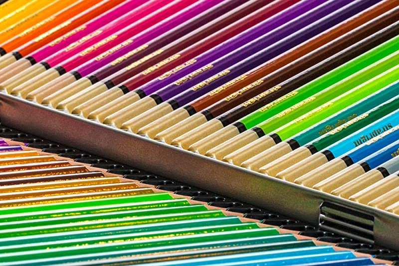 Amazon.com : Deluxe Colored Pencils Set (72 Bright Colors) with ...