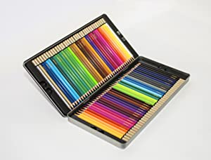 amazon com deluxe colored pencils set 72 bright colors with metal