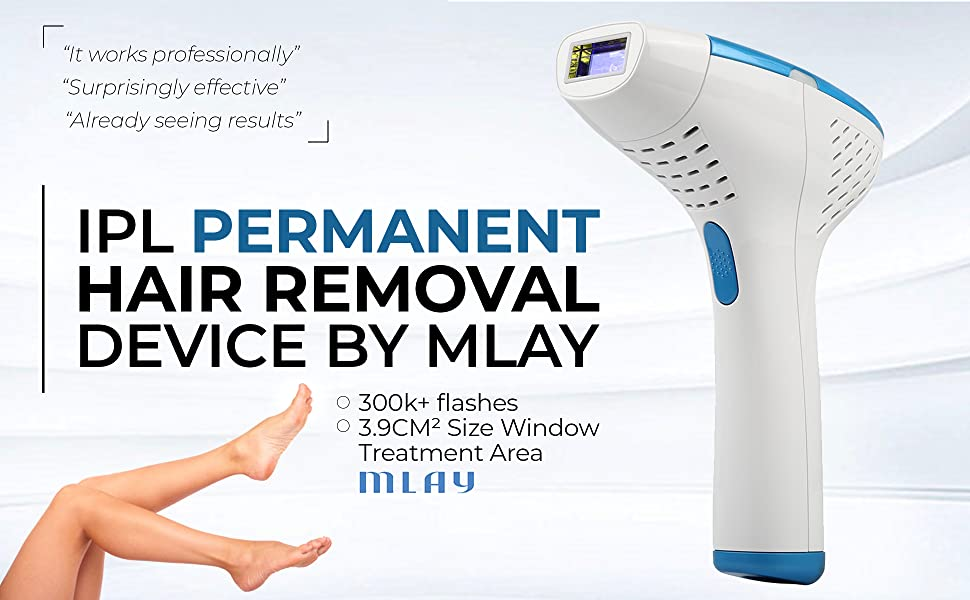 76792848ba7 Amazon.com  MLAY Permanent Hair Removal Device - Reliable Body Hair ...