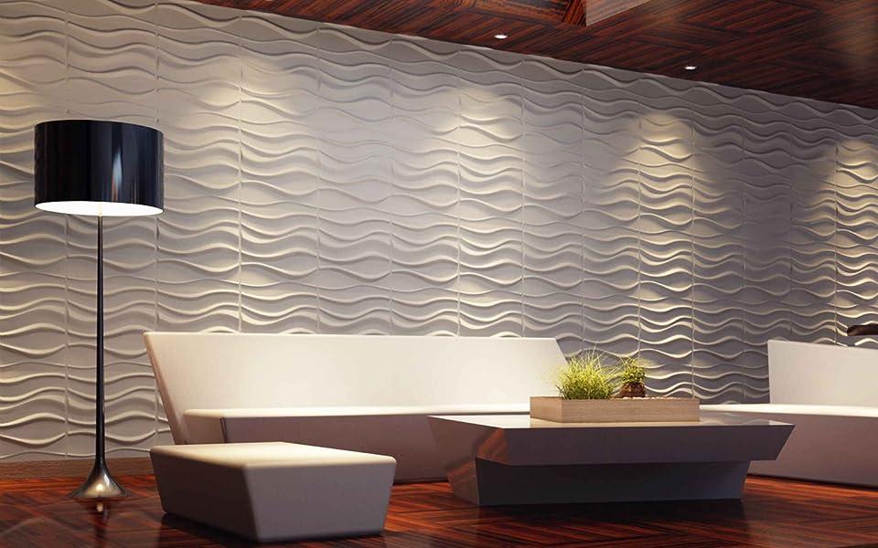 Amazon Com Art3d Decorative 3d Wavy Wall Panel Design