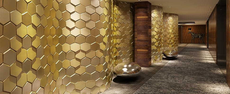 Amazon Com Art3d 20 Pieces Decorative 3d Wall Panels Faux