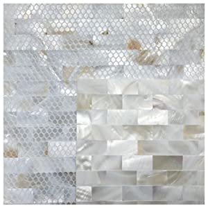 Amazon Com Art3d 6 Pack Peel And Stick Mother Of Pearl