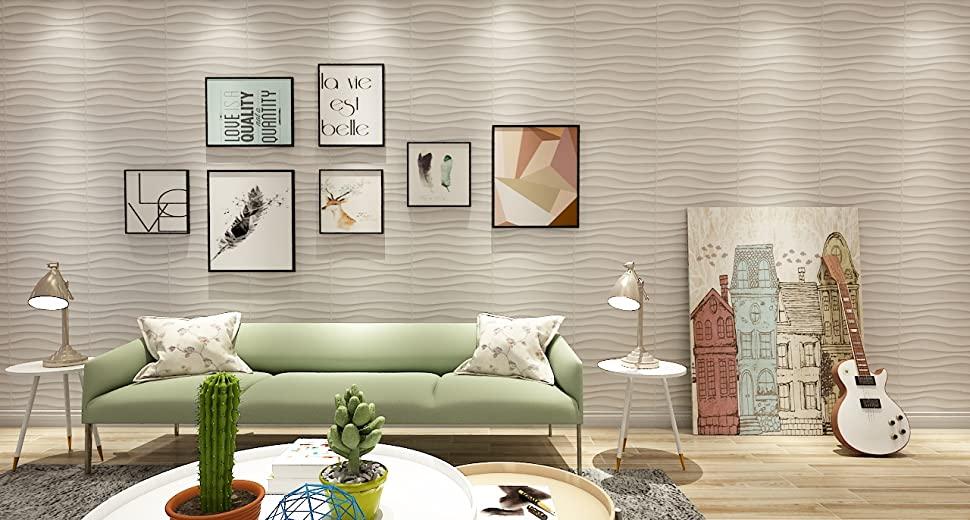 Amazon art d plastic wall panel pvc wave