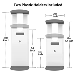 two plastic holders