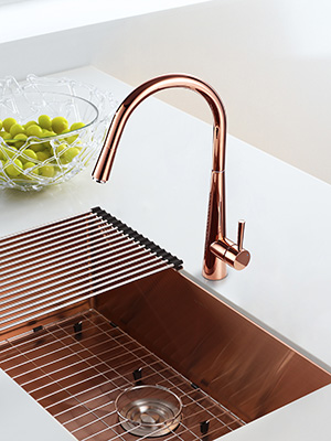 Aguastella As04rg Rose Gold Pull Down Kitchen Sink Faucet