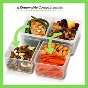 food containers meal prep bento boxes for adults bento lunch box containers portioned partitioned