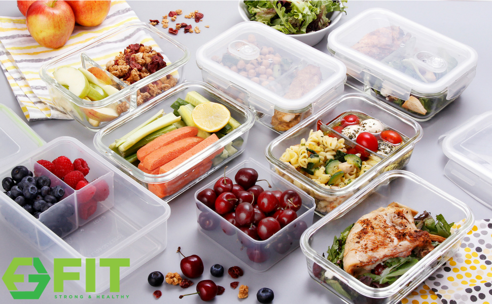 the ideal blend of function and style this high resistance glass meal prep container is designed to make healthy eating easy and fun