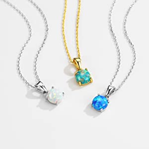 opal necklace for women