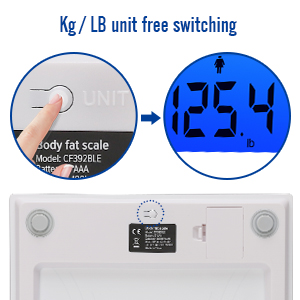 NURSAL CF392BLE Body fat electronic scale white - HK Shared Dream
