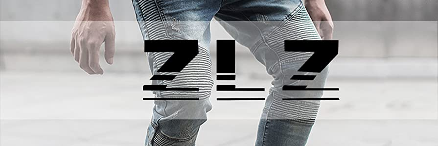 63f85e2efc06 ZLZ Mens Stylish Skinny Biker Denim Jeans are specifically designed to  shape your style and light up your passions!