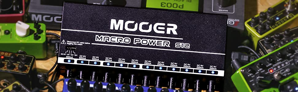 Power Supply with 12 isolated Ports Mooer Macro Power S12