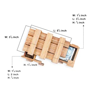Amazon Com Bsiri The Magic Box Puzzle Brain Teaser Box