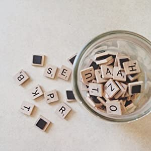 surely everyone knows the scrabble letters game we bring you a very simple project with these tiles transformed into fridge magnets