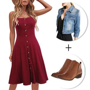 Women's Sleeveless A-Line Spaghetti Straps Stretchy Cotton Button Bown Midi Dresses