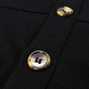 Women's Black Dress Casual Wedding Party Flattering A-Line Midi Spaghetti Strap Button Down Dress