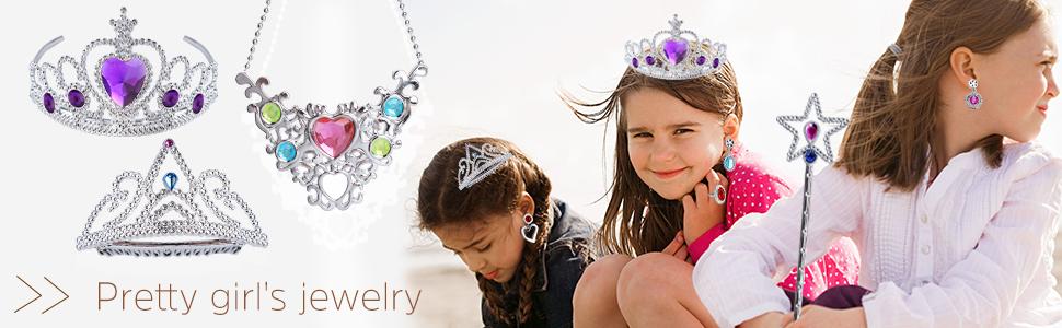 Defrsk 71 Piezas De Juguete De Joyería Princess fingir Princesa Tiara Niñas Vestido Joyería
