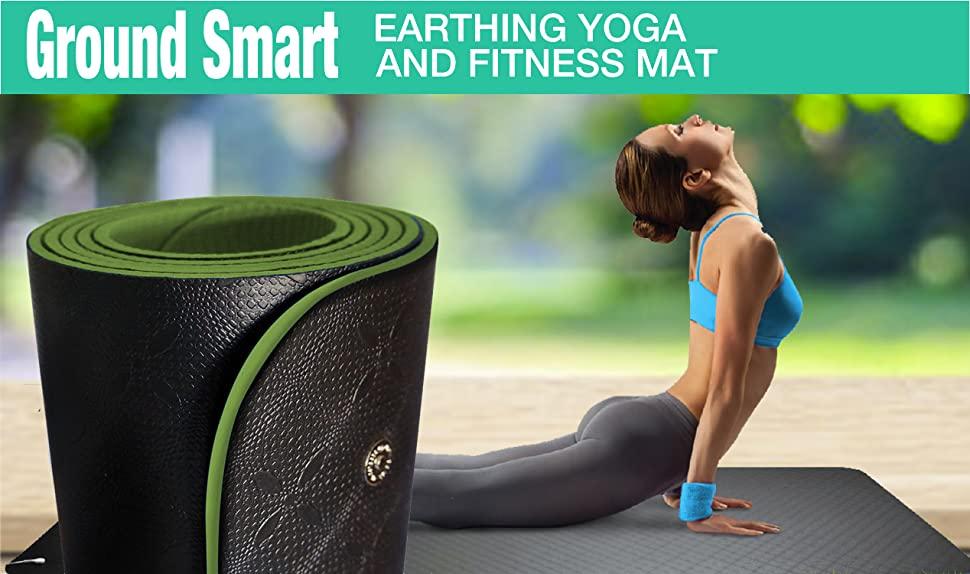 Earthing Yoga Mat - Universal Earthing Grounding Mat (large size); Meditation Mat Earth Yoga Mat: More...