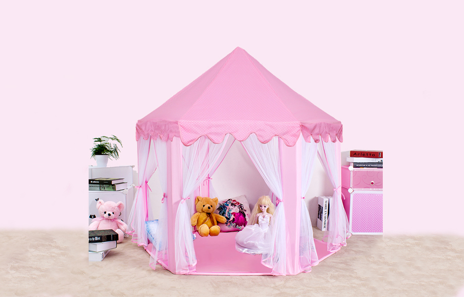 Sherosa Girls Princess Castle Play Tent Pink & Amazon.com: Sherosa Kids Indoor Princess Castle Play Tent ...