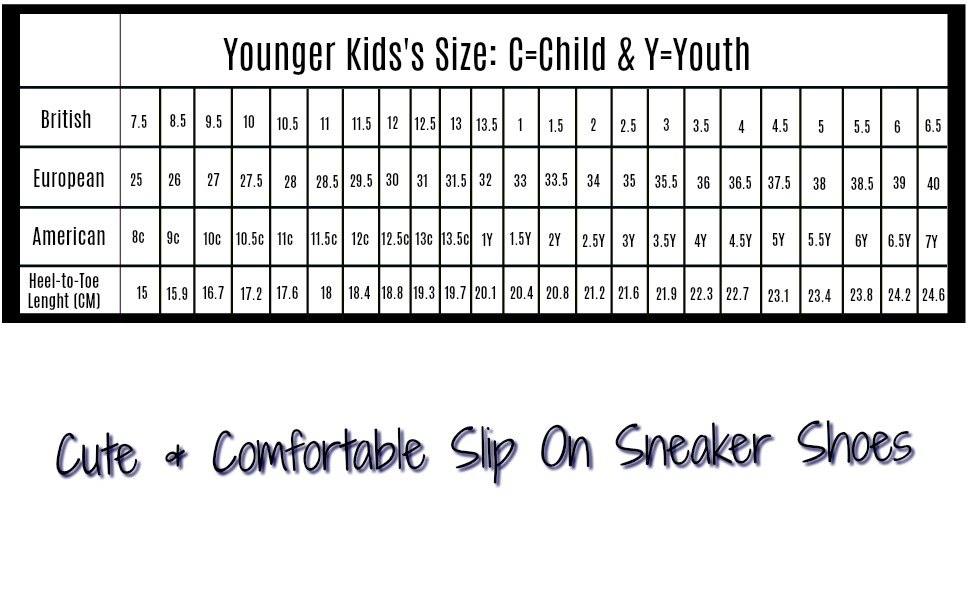 Toddler Youth Shoe Size Chart.Pattycandy Girls Boys Sneakers Dinosaurs Rex Patterns Little Big Kids Canvas Slip On Shoes Size Us8c 7y