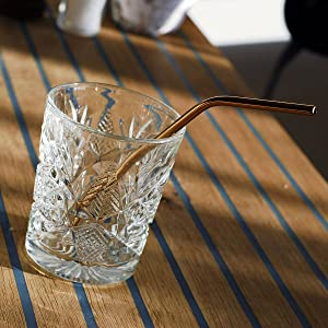 copper plated straws