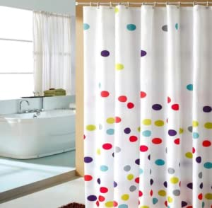 Your Kids Are Goona Love This Cute Colorful Dot Design Shower Curtain, It  Will Add Fun For Your Bathroom!