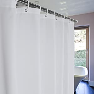 Along With The Warm Light Drifting Water Vapor And Comfortable Temperature You Can Feel Enormous Enjoyment This Classical Solid Color Shower Curtain