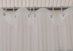 Decorated With Rustproof Metal Grommets And Reinforced Plastic Rings To Prevent The Shower Curtain From Ripping Or Tearing Bottom Hemmed Heavy