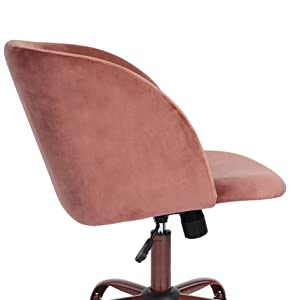 Amazon Com Eggree Mid Back Swivel Computer Desk Chair Ergonomic Home Office Task Chair Executive Chairs With Velvet Seat Armrest Accent Furniture Rose Pink Home Kitchen