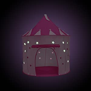 Stars Glow in the Dark & Amazon.com: Yoobe Princess Castle Play Tent with Glow in the Dark ...