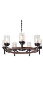 Amazon.com: Eumyviv - Lámpara de techo retro rústico de ...