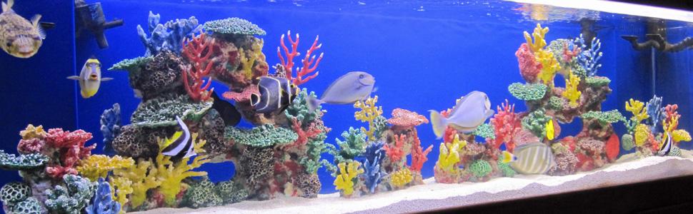 Instant Reef Aquarium Decorations, Fish Tank Decor, Artificial Coral Reef Inserts, Ornament