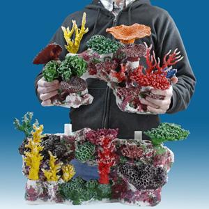 "Introducing ""Plug and Play"" Aquarium Decorations, Fish Tank Decor, Artificial Coral Reef Inserts"