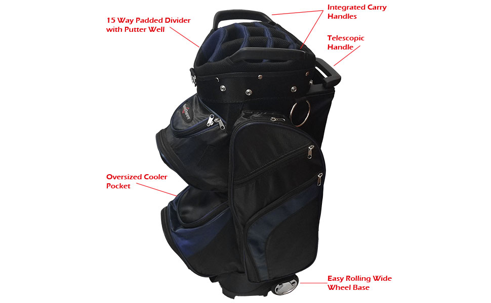 Amazon.com: CaddyDaddy Roadrunner - Bolsa de golf con ruedas ...