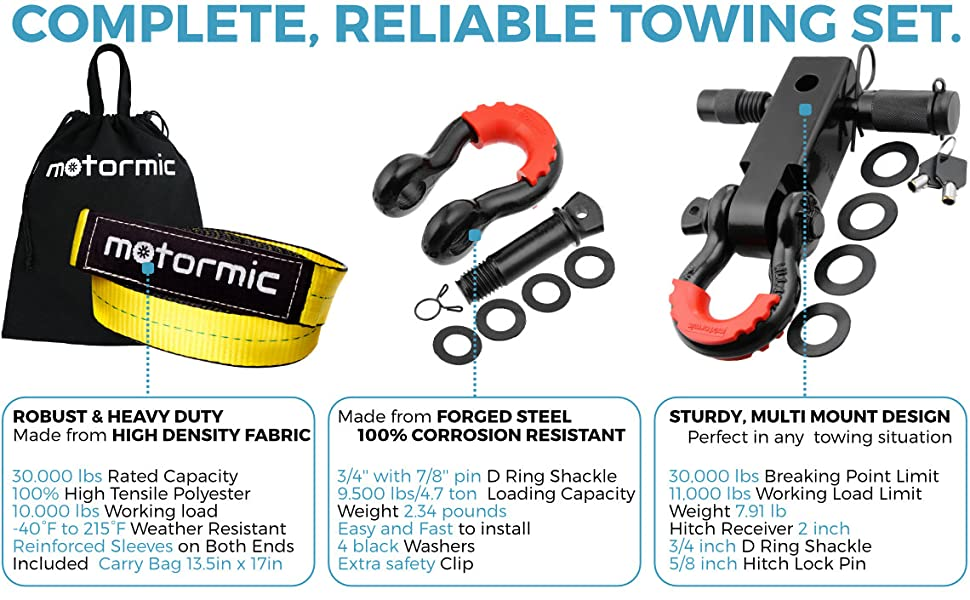 towing set, complete towing kit,