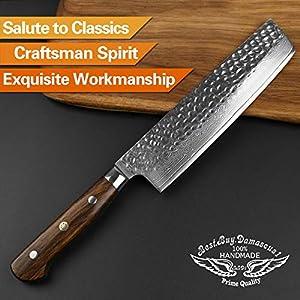 Nakiri Knife Japanese VG10 Damascus Steel Knife Nakiri Professional Chef's Knife